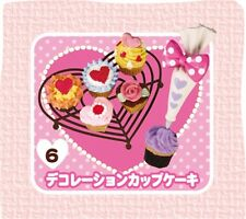 RE-MENT Heart Sweets#6-Sweetheart Cupcakes, 1:6 for Barbie kitchen food mini