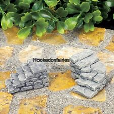 Miniature Micro Rock Stair Cases Set/2 Fairy Garden Dollhouse Terrarium GO 17441
