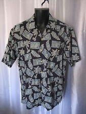 Burma Bibas Men's Blue Hawaiian Button Down Shirt Sz M Pre-Owned 100% Cotton