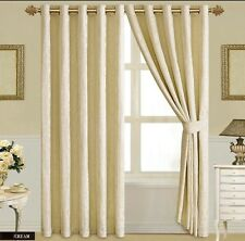 Luxury FullLine Heavy Jacquard Ring Top Ready Made Curtains 66x72 and 90x90