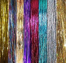 "NEW 40"" Hair Tinsel 500 Strands 8 HOT Colors -PARTY-WEDDING-PROM- DIY- US Seller"