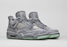 Nike Air Jordan 4 IV Retro KAWS SZ 10.5 Cool Grey Suede Glow In Dark 930155-003