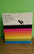 VINTAGE IN ORIGINAL BOX POLAROID POLAVISION LAND CAMERA #3600