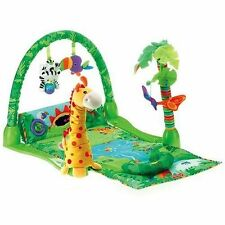 Fisher-Price Rainforest 1-2-3 Musical Gym 3 Ways to Play Grows with baby New