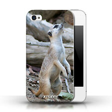 Stuff4 Hülle/Case für Apple iPhone 4/4S/Erdmännchen/Wilde Tiere