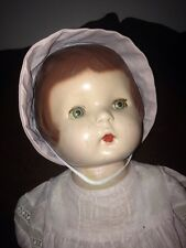 "Antique 19"" Composition Doll ""Patsy? Nancy? Averil Peaches?"" Unmarked Pink Dress"
