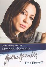 sexy SIMONE THOMALLA handsigniert Autogramm Karte AK Sammlung ARD Tatort