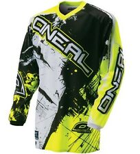 Oneal Element Long Sleeve Sleeved DH Downhill MTB Bike Jersey Black Yellow Large