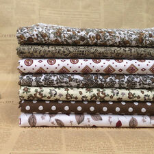 "new Coffee 7 Assorted Pre Cut 10"" Squares Quilting Cotton Fabric"