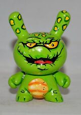 "CHRISOSAUR Custom 3"" Dunny Kidrobot Green- one of a kind"