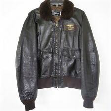 VINTAGE USNR US NAVY RESERVE LEATHER FLIGHT JACKET G-1 G1 SIZE 44 SCHOTT BROS US