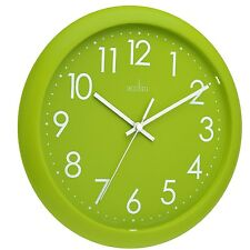 Acctim 21895 Abingdon Wall Clock Lime Green STYLE A