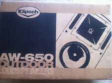NEW Klipsch AW-650 Reference Series Outdoor Speakers (Pair) BLACK