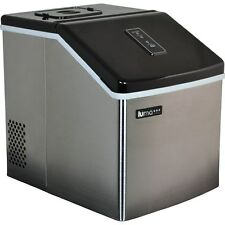 Stainless Steel Portable Clear Ice Maker, Countertop Home Small IceCube Machine