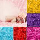 Prop Baby 3D Rose Flower Photography Photo Backdrop Blanket Rug Newborn TXCL