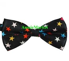 1 x mens silk bow tie bowtie necktie wedding party tuxedo stars boy girl ladies