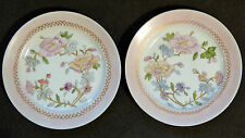 * LIMOGES ~ UNION LIMOUSINE * 2 Salad Plates Circa 1920's Pink Edge with Flowers