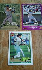 Jose Canseco Oakland A's, Blue Jays Cards