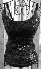 Fredericks of Hollywood Sequin Corset Bustier Top Lined Straps Padded Bra Small