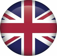 Union Jack National Flag UK GB Round Icon Sticker Decal Graphic Vinyl Label