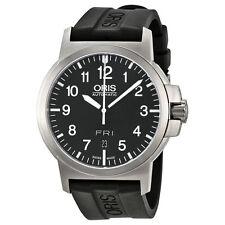 Oris BC3 Black Dial Black Rubber Mens Watch 735-7641-4164RS