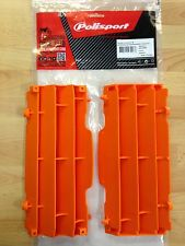 KTM EXC EXC-F 2008-2015 POLISPORT RADIATOR LOUVRES RAD GUARDS  ORANGE