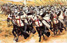 Framed Print - Knights Templar Racing to Battle on Horseback (Picture Poster)