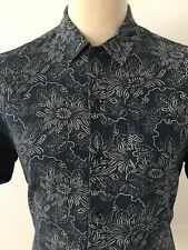 ALL SAINTS Men's AUDOBON SS Shirt FLORAL Size M MEDIUM