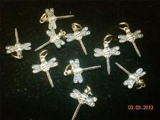 Wholesale Lot # 143 Pewter Dragonfly Solid Wine Charm Pendant Earring Key Chain