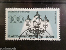 ALLEMAGNE FEDERALE RFA 1991 GERMANY, TP 1366, LAMPADAIRE, oblitéré USED STAMP