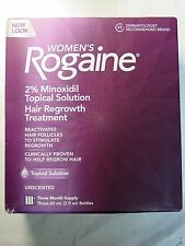 Women's Rogaine 2% Minoxidil Hair Regrowth Treatment 3 Month Supply Exp 2020 New
