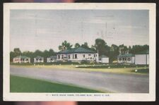 Postcard QUEBEC CANADA  White House Tourist Court Cabins view 1940's?