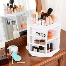 360-degree Spinning Cosmetic Display Organizer Makeup Box Brush Cleanup Rotating