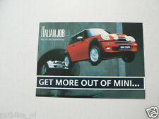 MINI COOPER THE ITALIAN JOB GET MORE OUT OF MINI INFOCARD-POSTCARD