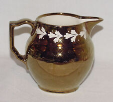 PERFECT Vintage Gray's Pottery GOLD LUSTRE Cream Pitcher!