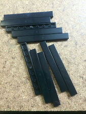 x10 NEW Black Tile 1 x 8    , Lego Bulk lot