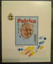 POLAND-STAMPS MNH Fibl99 SC3046 Mibl113 - Pope John Paul II, 1991, clean