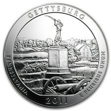 2011 5 oz Silver ATB Coin Gettysburg, PA - America the Beautiful - SKU #61837