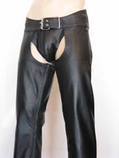 AW771  LEATHER CHAPS,LEDER CHAPS/LEATHER PANTS/CUIR GAY CHAPS/BIKER TROUSERS
