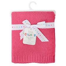 Silvercloud Raspberry Pink 100% Cotton Baby/babys Cot blanket/Wrap Boys/Girls