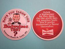 2005 Beer Coaster ~ Have You Taken the BUDWEISER Test? Anherser-Busch ~ MISSOURI