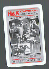 Playing Swap Cards 1 VINT RACE HORSES  H&K BOOKMAKERS TURF ACCOUNTANTS   W504