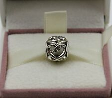 AUTHENTIC PANDORA Ribbons of Love, Clear CZ, 792046CZ  #406