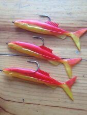 """sea fishing 5"""" x 3 jumping jack sandeels on 8/0 eddystone hooks"""