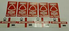 Nottingham Forest on Tour & Flag Stickers - NFFC Football Sticker Set  (20)