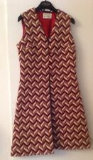 Ruth Norman For Gay Gibson Vtg Vest Top  Dress Geometric Red Ivory Sz US 2 - 4