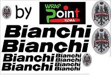 KIT n11 ADESIVI PRESPAZIATI BICI BIANCHI con application marca 3M logo a colori!