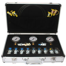 Excavator Hydraulic Pressure Test Kit, Hydraulic Tester, 11 couplings,