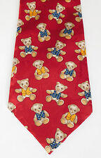 Teddy bear red novelty tie St Michael for Marks & Spencers M&S Made in Britain