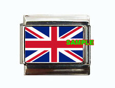 Great Britain Flag Custom Italian Charm England, United Kingdom